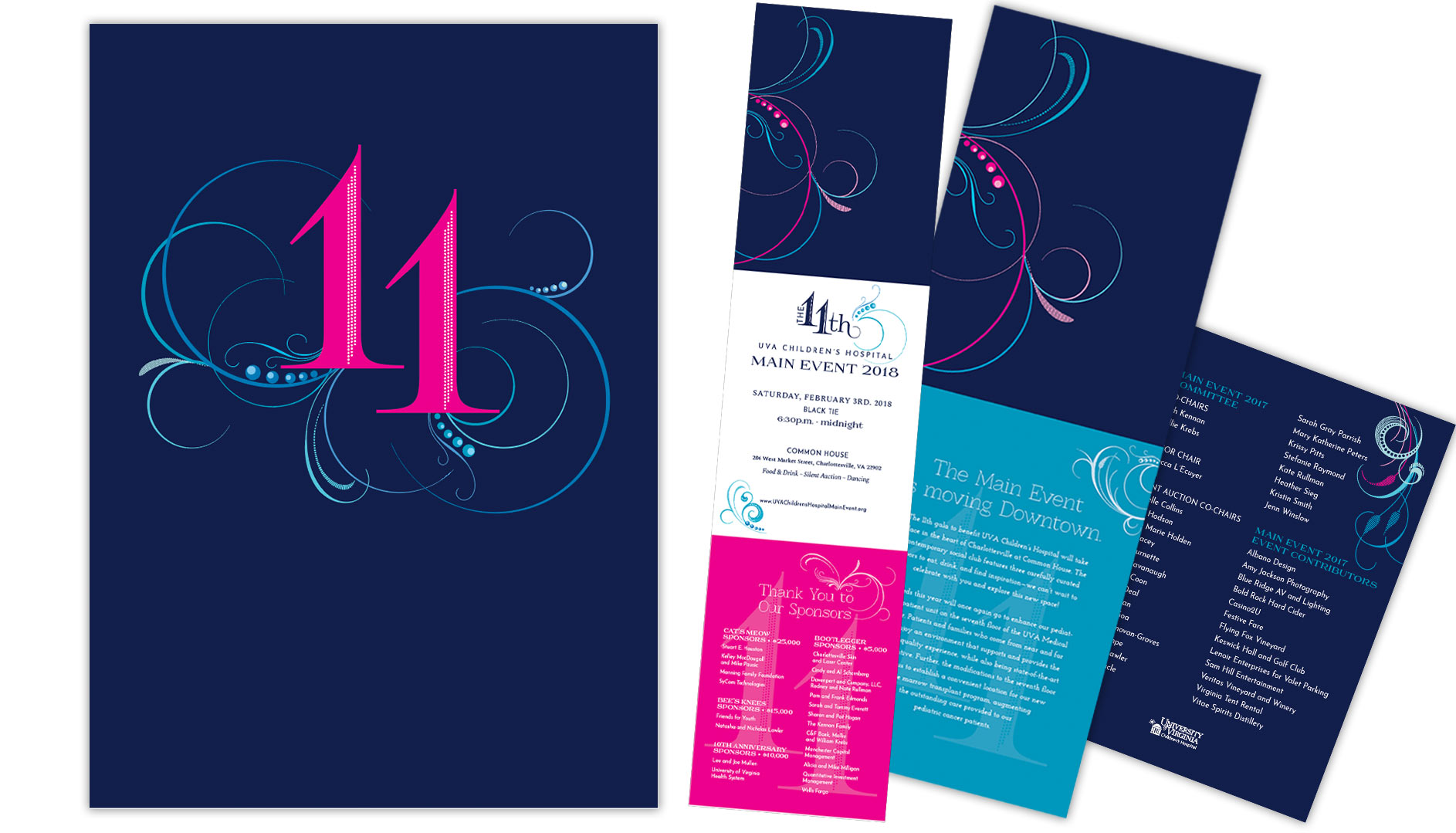 uva children's hospital main event gala invitation package