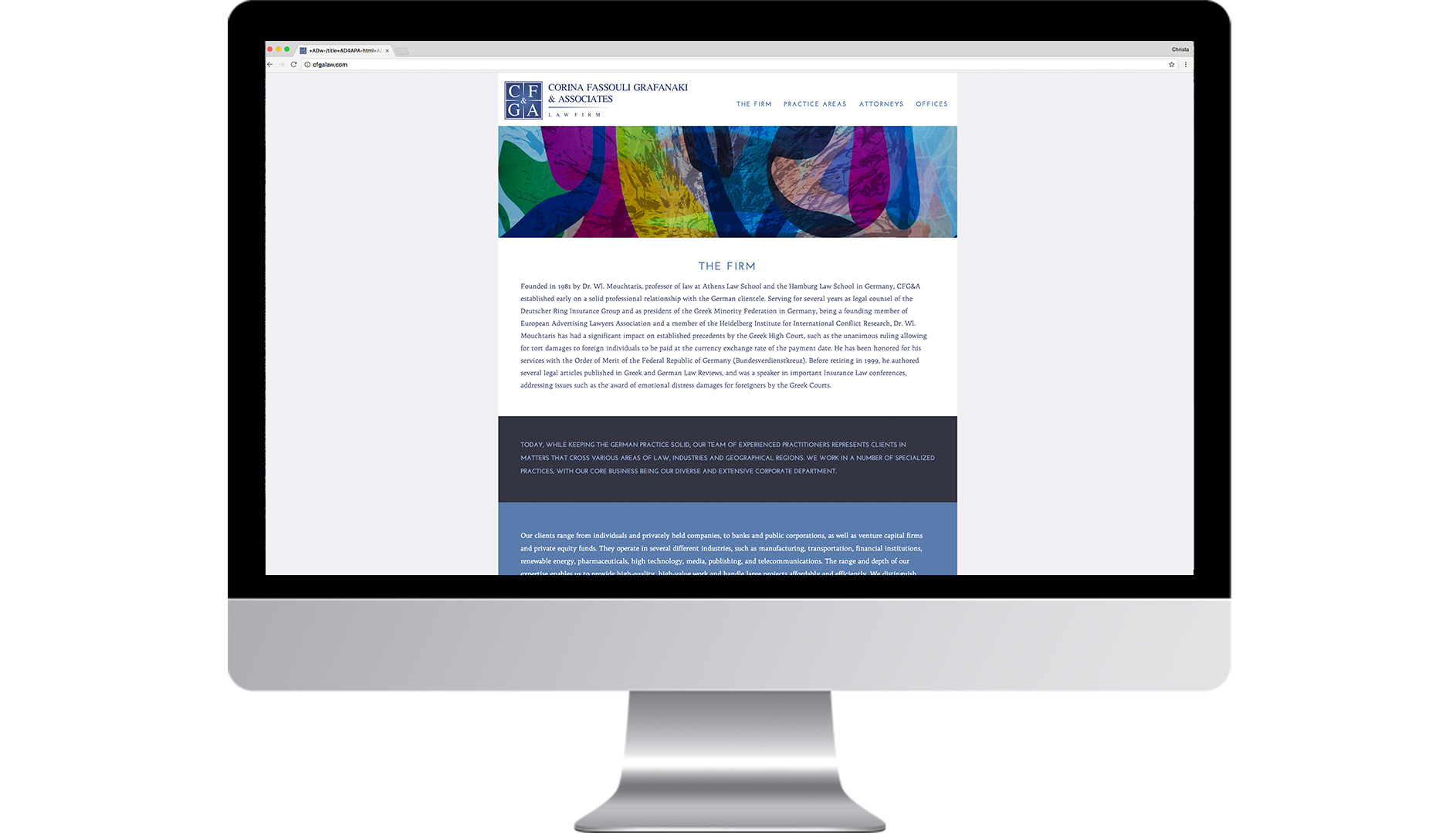 cfga lawfirm website design