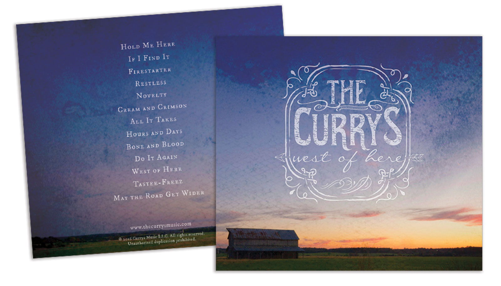 the currys logo and album design, website design and development