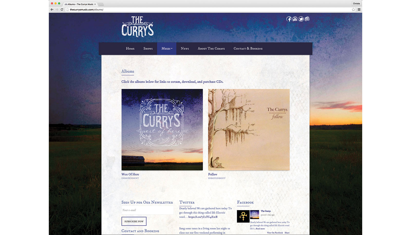 the currys logo and web design