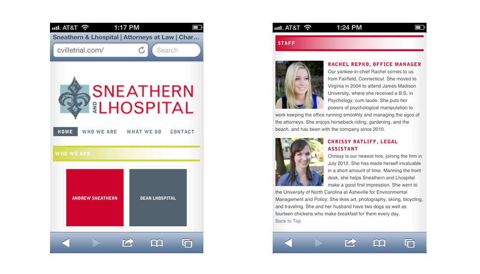 Sneathern & Lhospital Website