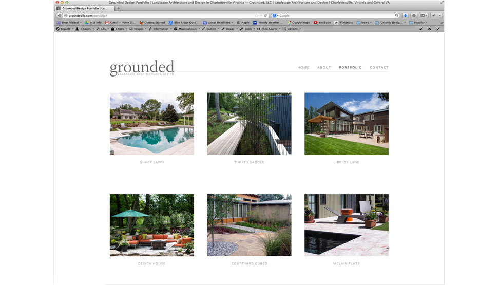 grounded llc landscape architecture website