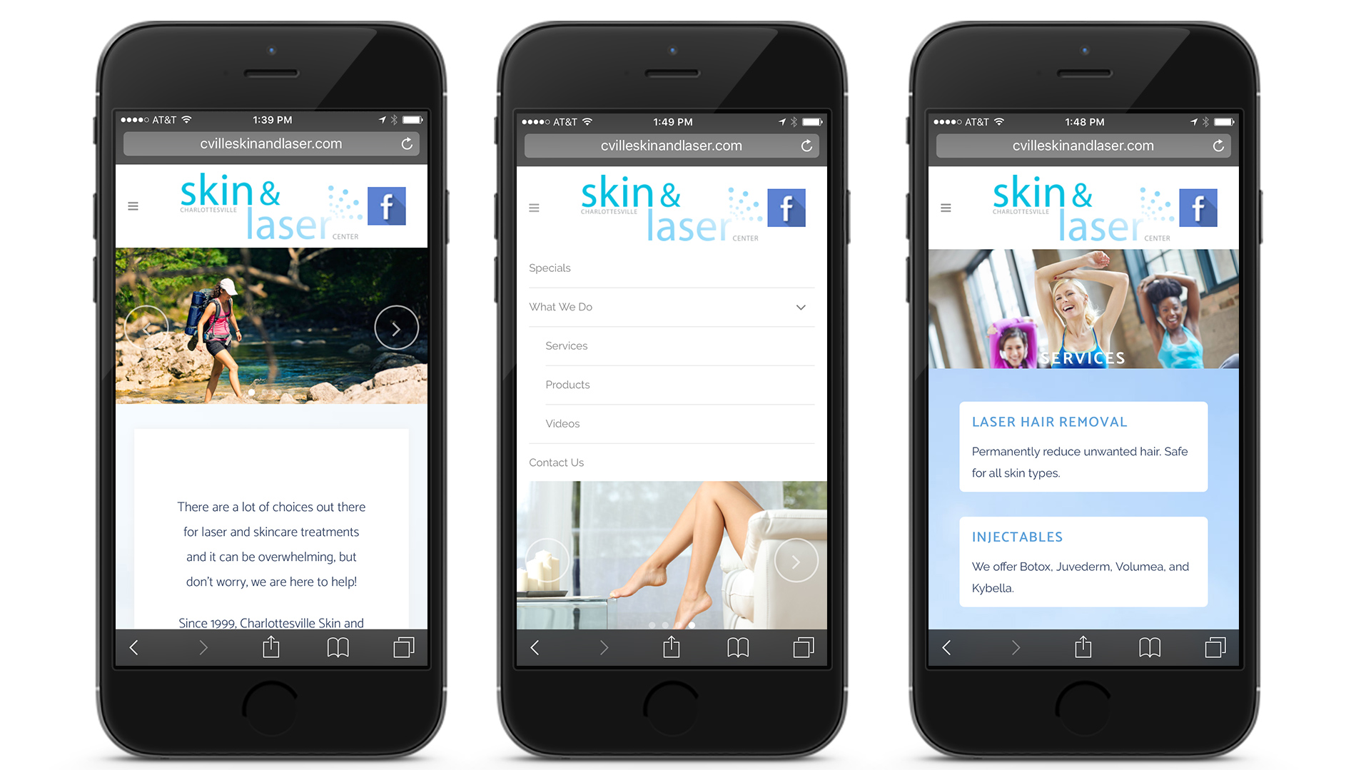 cville skin and laser website