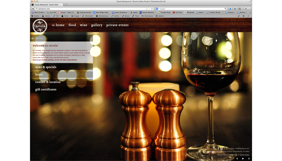 tavola website
