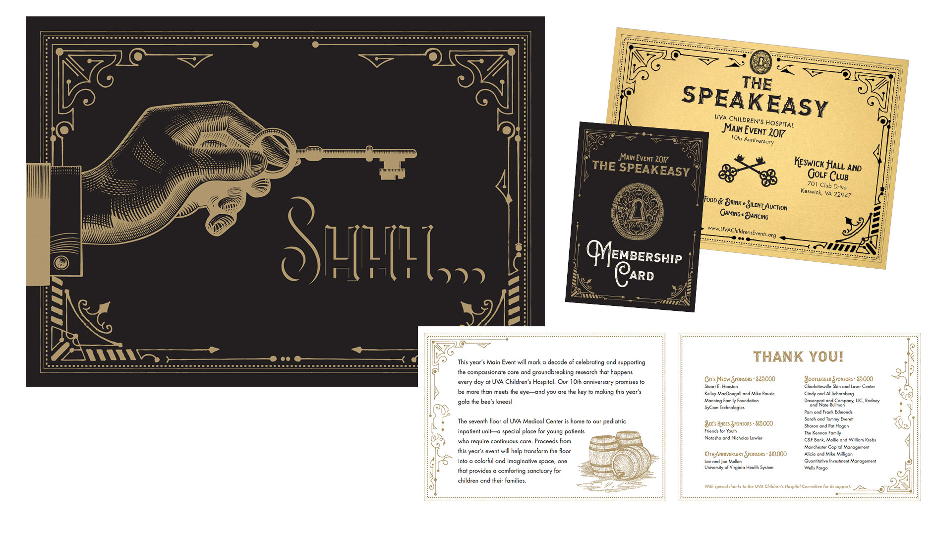 speakeasy main event invitation package